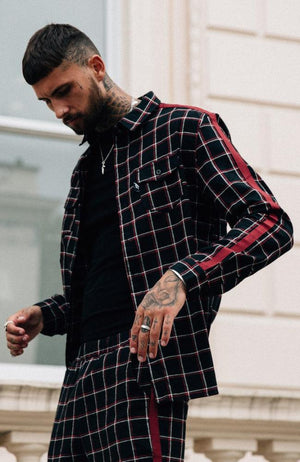 MAUVAIS Black/Red Check Shirt
