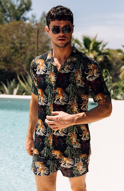 MAUVAIS Tropical Tiger Swim Shorts