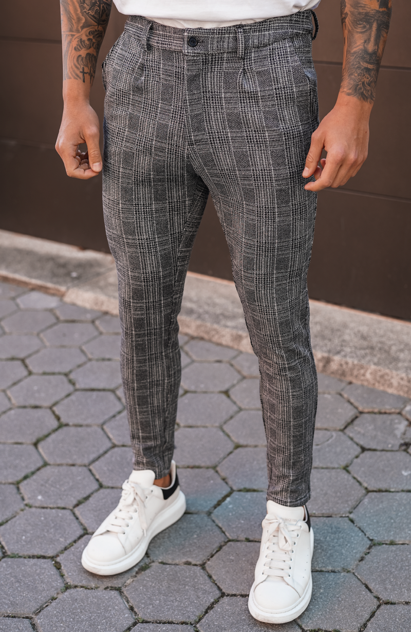 Grey Arroux Check Trousers