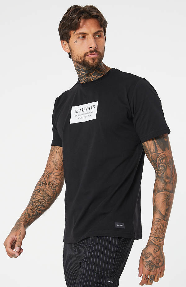 MAUVAIS Black Box Logo T-Shirt