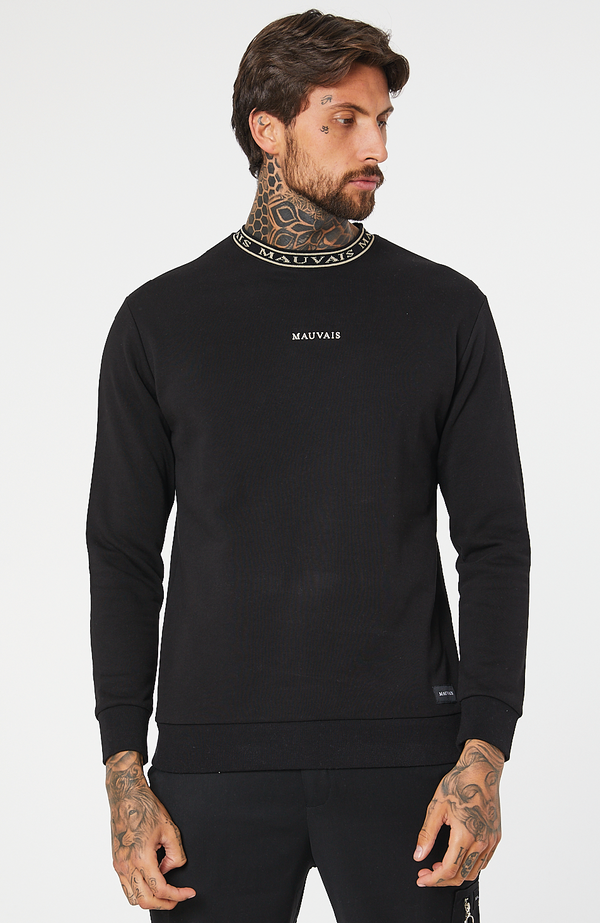 MAUVAIS Black/Gold Taped Sweatshirt