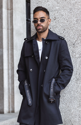 MAUVAIS Black Trench Coat