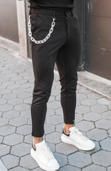 Black Lozère Trousers with Frosted Chain