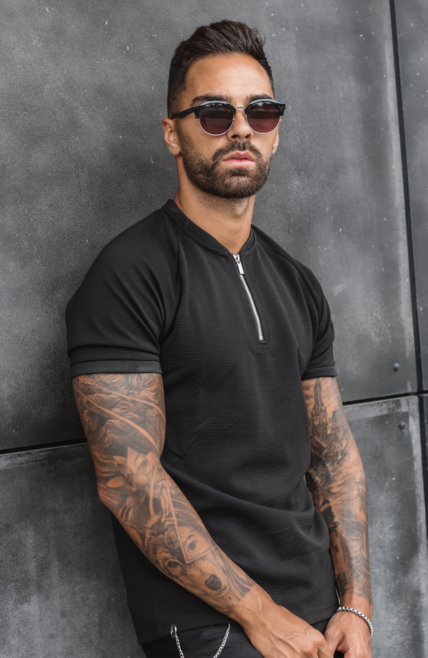 MAUVAIS Black Zip T-Shirt
