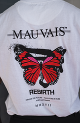 White Butterfly Graphic Tee