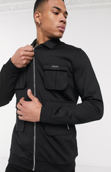 MAUVAIS Black Cargo Jacket
