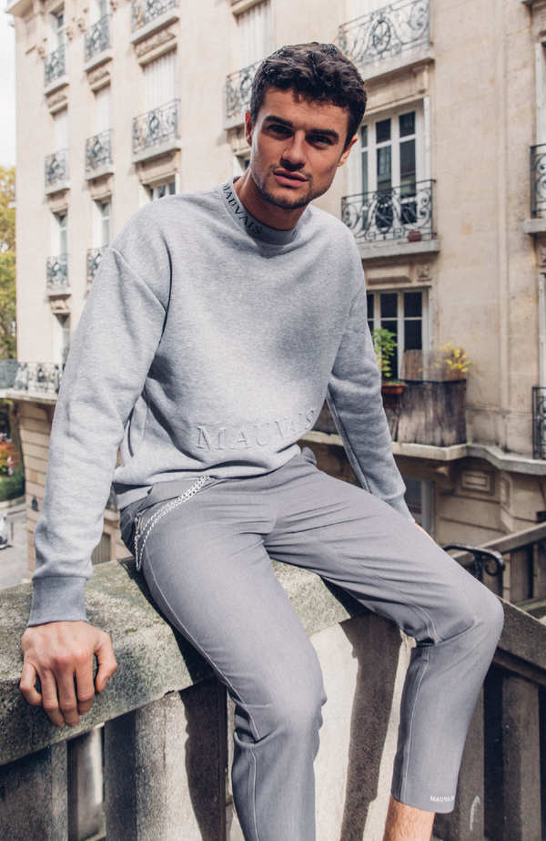 MAUVAIS Grey Embossed Sweatshirt