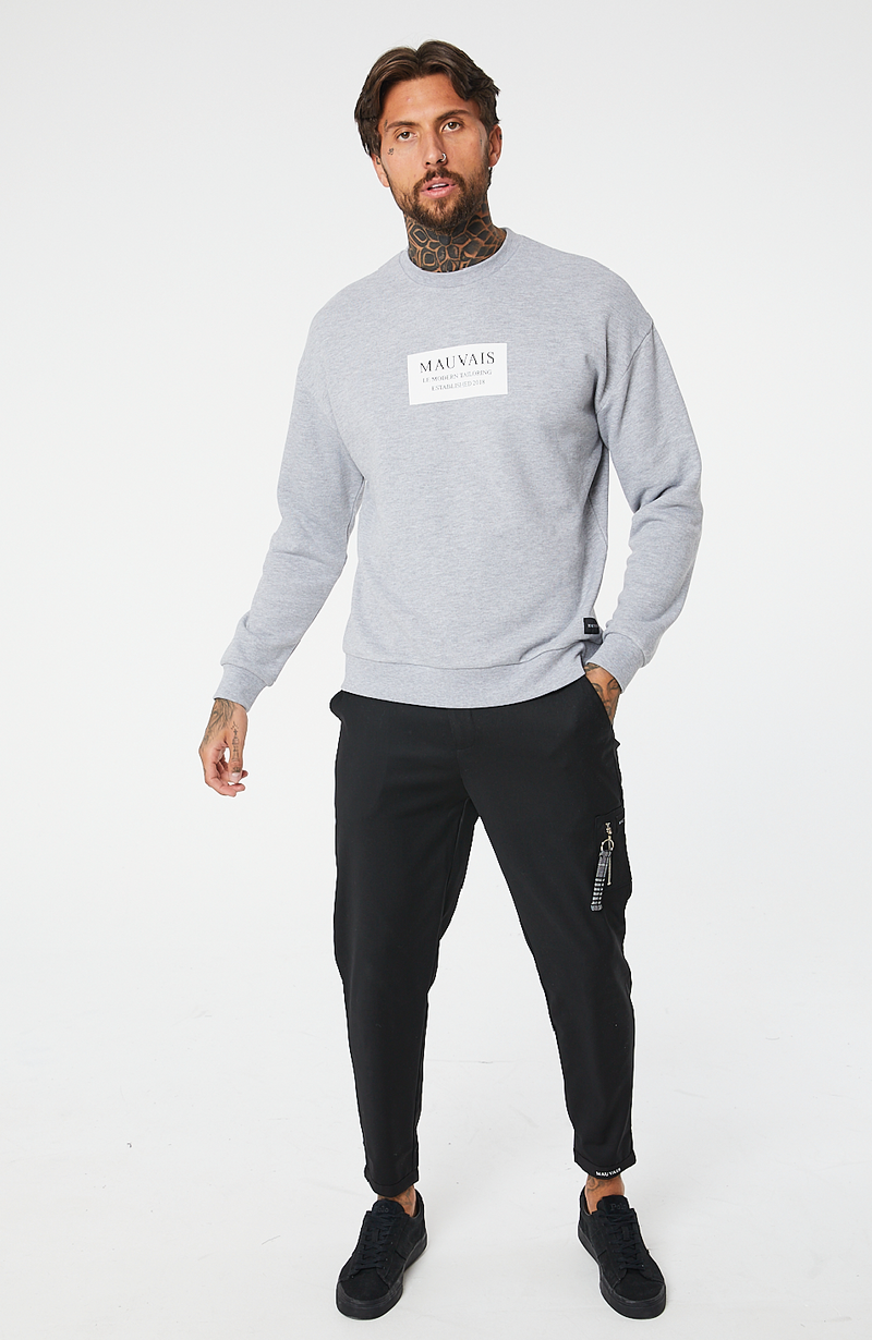 MAUVAIS Grey Box Logo Sweatshirt