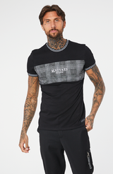 MAUVAIS Prince of Wales Check Panel Tee