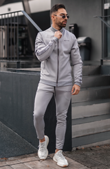 Grey Premium Colmar Track Joggers with Logo Tape