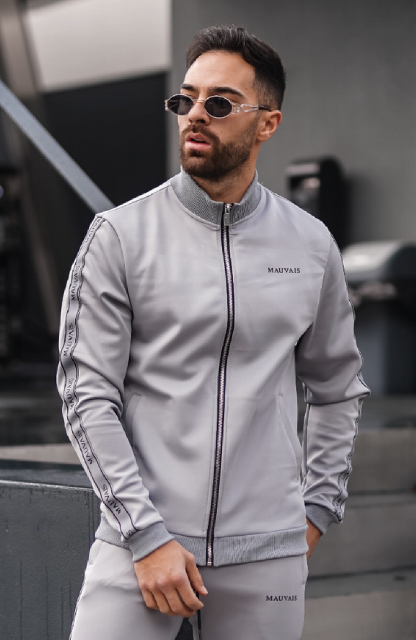 Grey Colmar Premium Track Jacket with Logo Tape