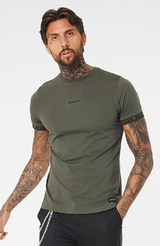 MAUVAIS Khaki Taped Tee