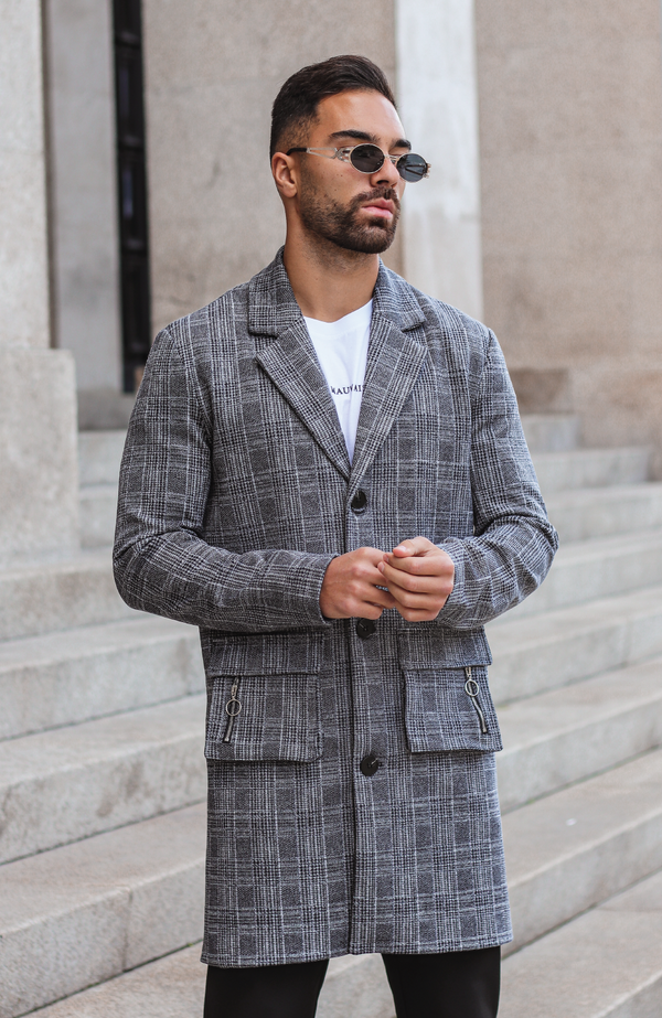 MAUVAIS Check Utility Overcoat