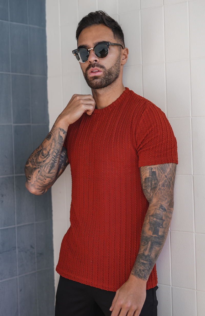 Rust Clermont Knitted Tee