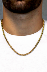 MAUVAIS Gold 5mm rope chain