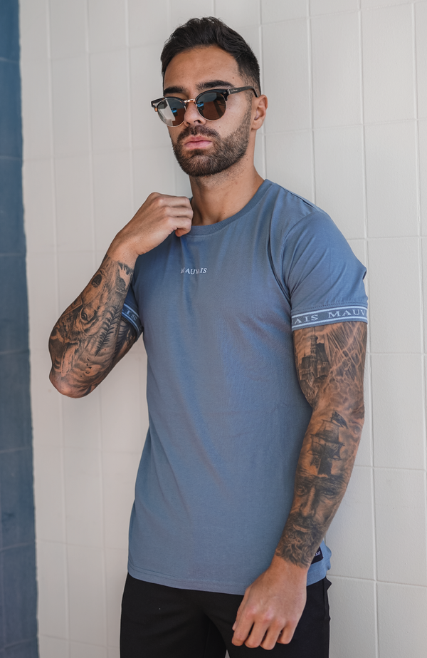 Steel Blue Taped Tee