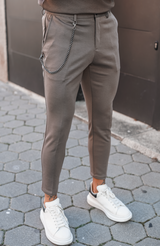 Taupe Volonté Trousers With Detachable Chain