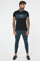 MAUVAIS Teal/Black Check Trousers
