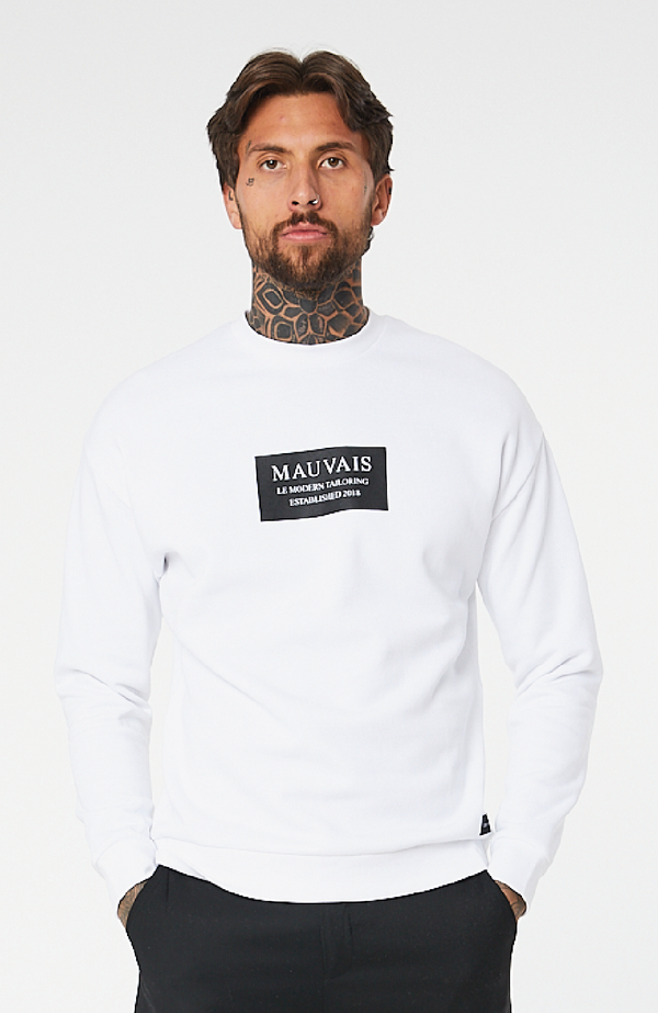 MAUVAIS Sweat-shirt à logo blanc