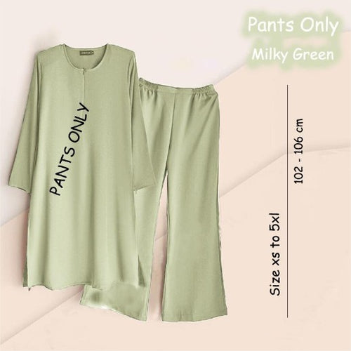 Sabra Pants  -Milky Green - Size XL