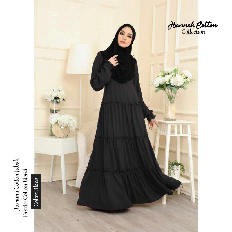 Jumana COTTON Layer Jubah - HannahSG