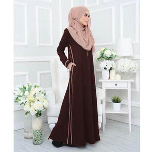 Niesha Jubah - Dark Brown - Size 3XL - HannahSG