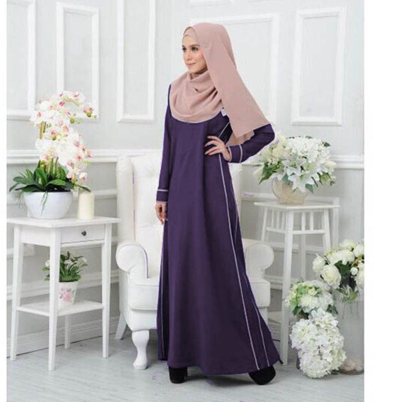 Niesha Jubah - Midnight Purple - Size 3XL - HannahSG