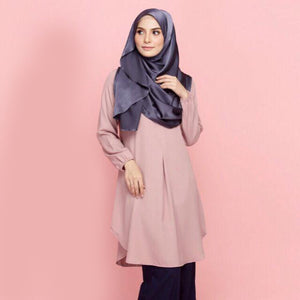 Munirah Pocket Long Blouse - HannahSG
