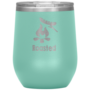 Roasted Hot Dog Wine Tumbler with Lid [Be The Coolest Ones At The Campground!]
