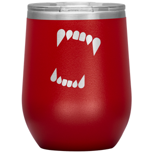 Werewolf Fangs Wine Tumbler with Lid [Celebrate The Full Moon In Style!]