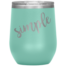 Simple Wine Tumbler with Lid [Because Opposites Attract!]