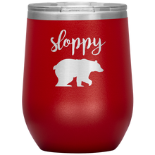 Sloppy Bear Wine Tumbler with Lid [Hilariously Wild!]