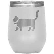 Cat Wine Tumbler with Lid [A Little Cheeky & A LOT Of Fun!]