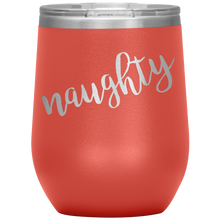Naughty Wine Tumbler with Lid [Shh! Don't tell Santa!]