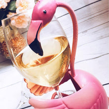 Flamingo Fun Wine Bottle Holder Painted Metal Rack [Hilariously Adorable!]