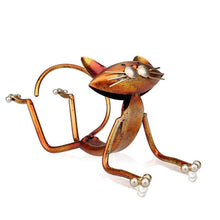 Hilarious Yoga Cat Wine Bottle Holder Metal WIne Rack [There Aint No Downward Dog In Here!]