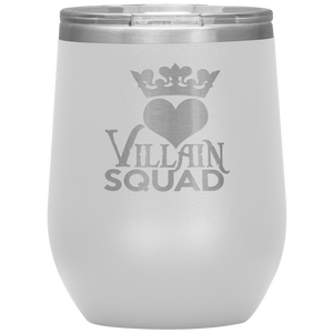 Queen of Hearts Villain Wine Tumbler with Lids
