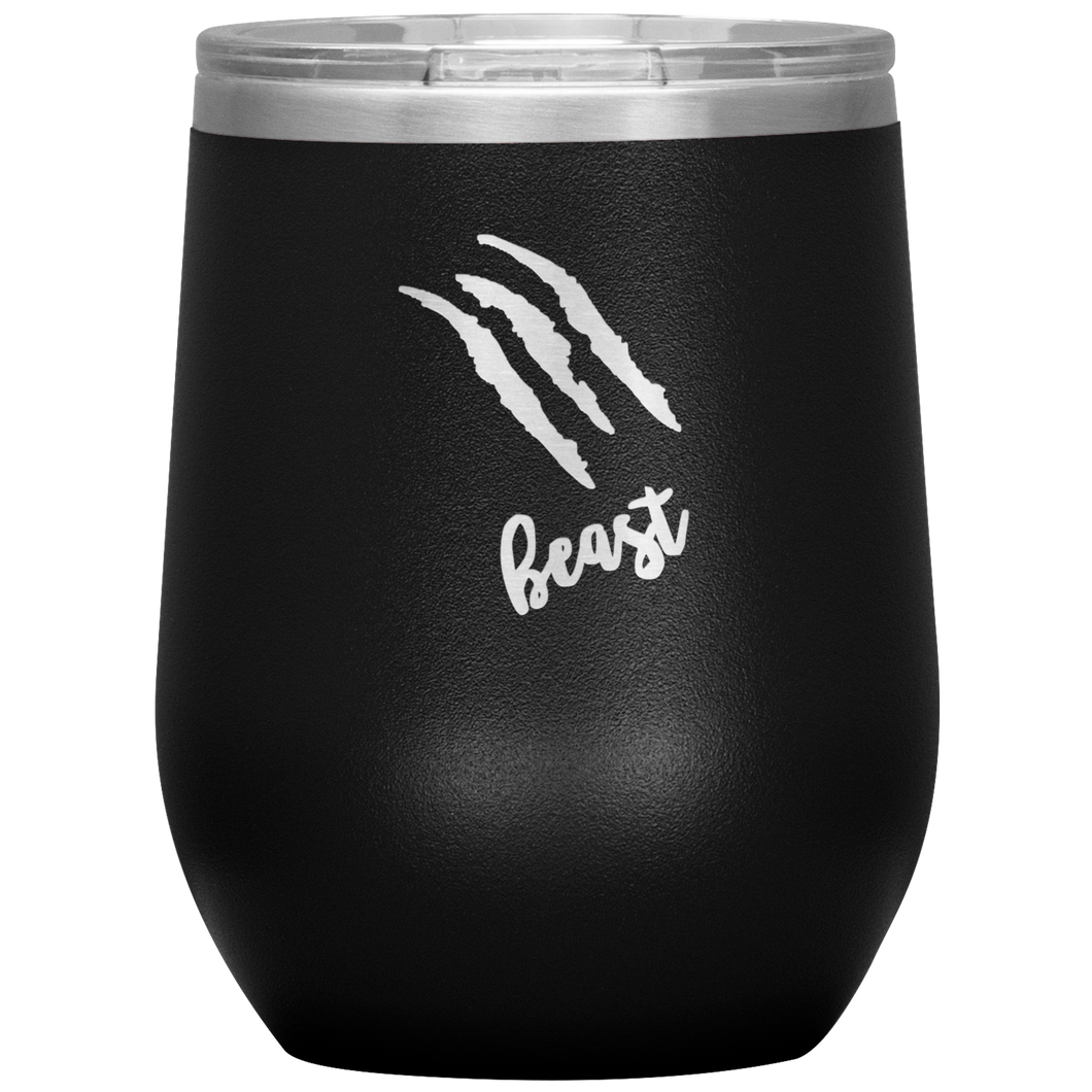 Beast Strach Wine Tumbler with Lid [Ready to get WILD?!]