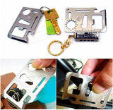 Multi Tool 11 in 1 Multifunction Outdoor Hunting Survival Camping Pocket Military Credit Card Knife - Deals Xtreme