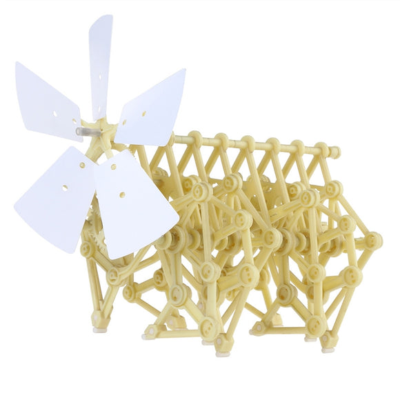 NUOLUX Funny Wind-powered Animaris Ordis Parvus Strandbeest Model Robot DIY Assembly Walker Educational Toy Kit - Deals Xtreme