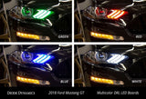 2018-2019 Ford Mustang Multicolor DRL LED Boards (USDM)