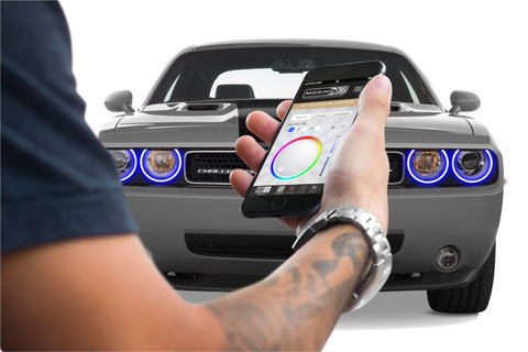 2008-2014 Dodge Challenger OEM HID Profile Prism Fitted Halos (RGB)