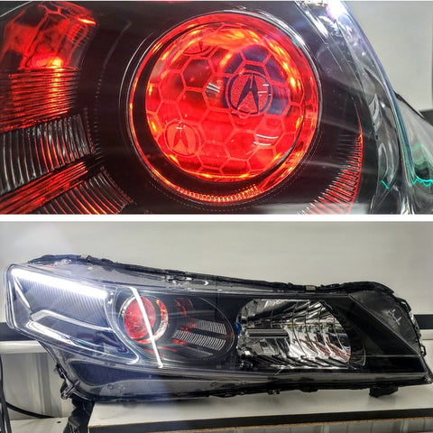 2009-2014 Acura TL Projector Retrofitted Headlights