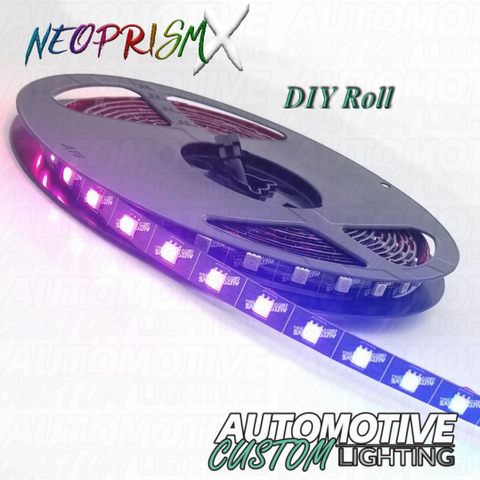 NeoPrismX 12v Custom DIY LED Roll – Black Faced