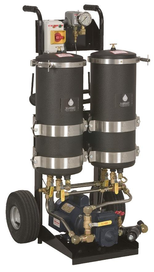 Harvard Oil Filter Cart, Dual Housing, 8 GPM Pump - 900186 - RelaWorks