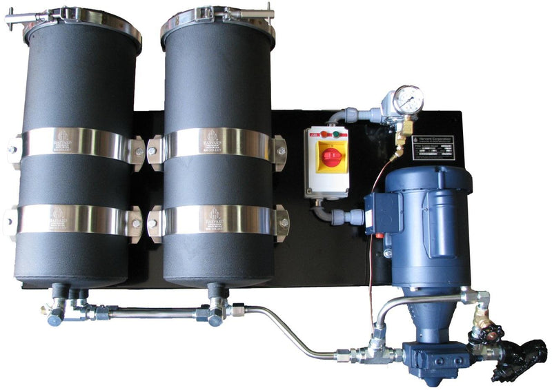 Harvard Wall Mount Oil Filtration System Dual Housing, 8 GPM - RelaWorks