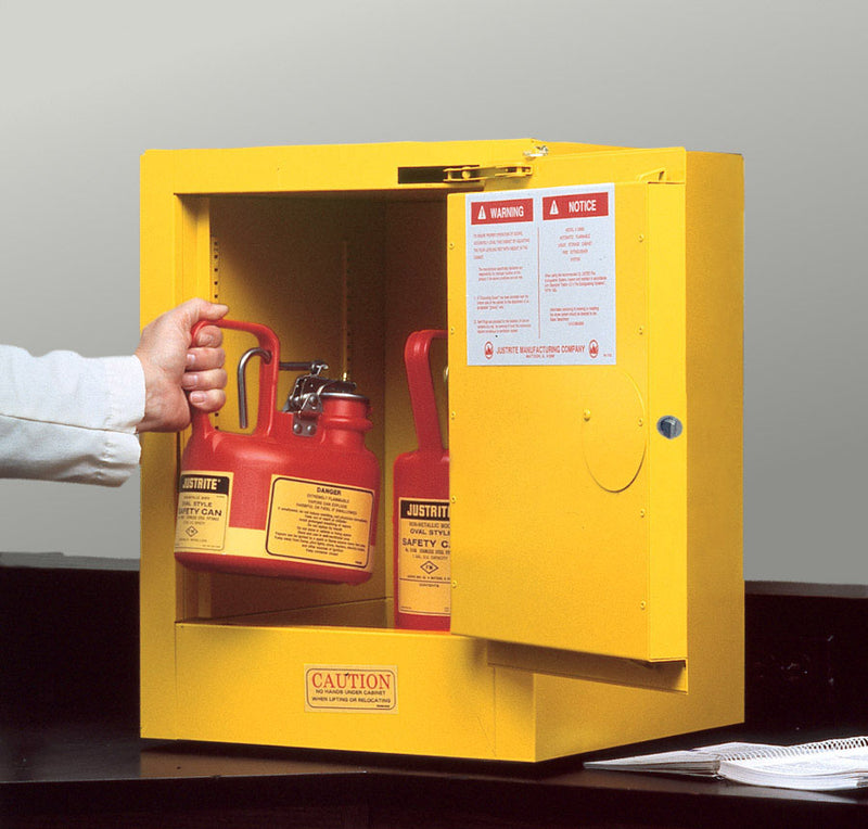 Justrite Countertop Flammable Safety Cabinet, 4 Gallon-RelaWorks