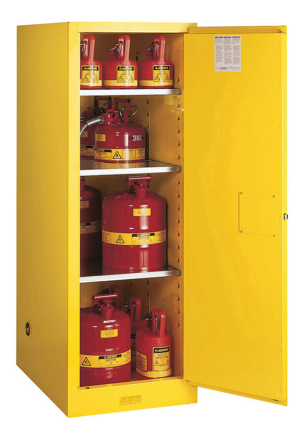 Justrite Deep Slimline Flammable Cabinet, 54 Gallon-RelaWorks
