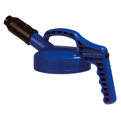 OilSafe Blue Stumpy (Wide) Spout Lid - 100502 - RelaWorks
