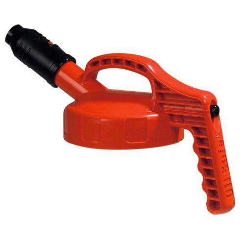 OilSafe Orange Stumpy (Wide) Spout Lid - 100506 - RelaWorks